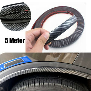 5-Meter-Extended-Fender-Flares-Arch-Trim-Stickers-Protector-Carbon-Fiber-Rubber