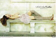 Publicité Advertising 2011 (2 pages) Pret à porter bottes UGG