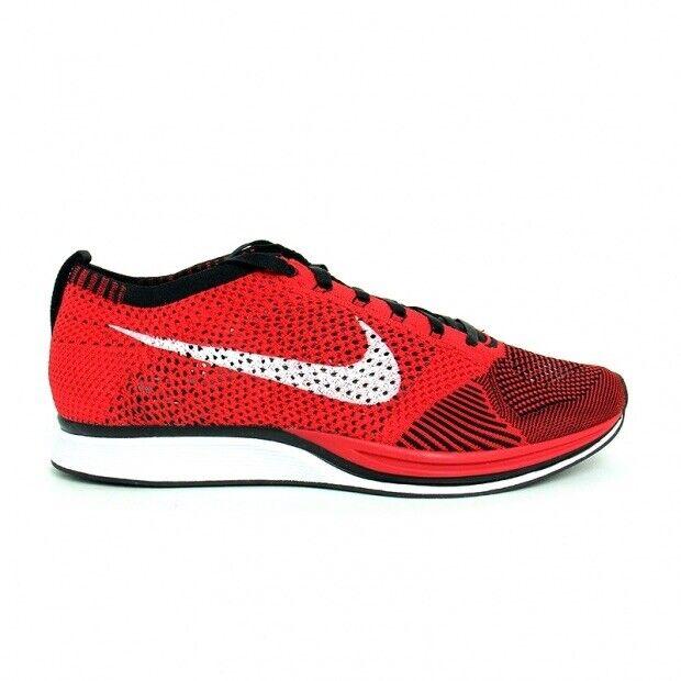 Nike Flyknit Racer One Mens Sz. 12 University Red Black 526628-610 Deadstock
