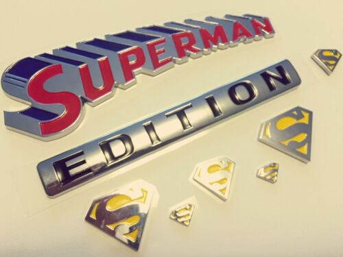 SUPERMAN Edition Emblem Hero 3D Car Truck TOYOTA Decal SUV SIGN Ornament BADGE