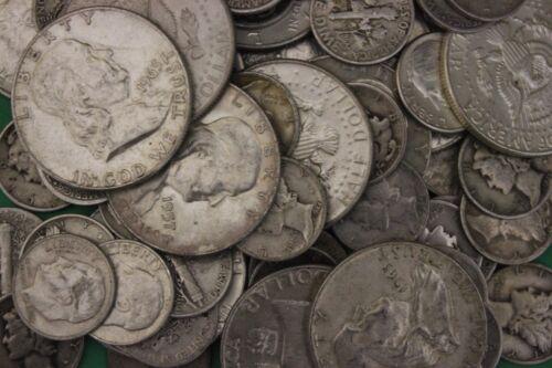 MAKE OFFER 4 Troy Ounces 1964 Kennedy Franklin Mercury Roosevelt Junk Silver