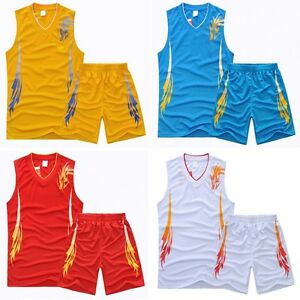 VG0001 New Boys Basketball Jersey Uniform Suit Outfit Costume Hot Sports clothes   eBay