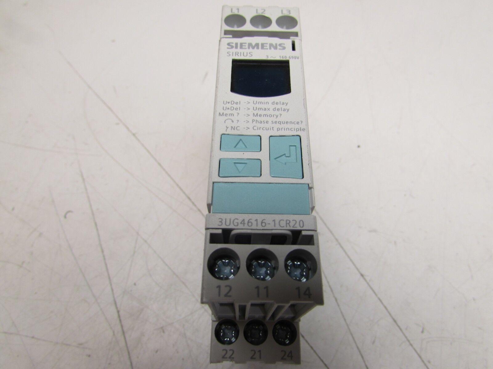 Siemens 3ug4616 1cr20 Monitoring Relay Three Phase Voltage Ltspice Spdt Insulation Ebay