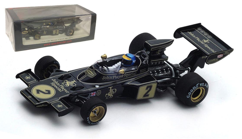 SPARK S7128 Lotus 72E JPS  2 Winner French GP 1973-Ronnie Peterson échelle 1 43