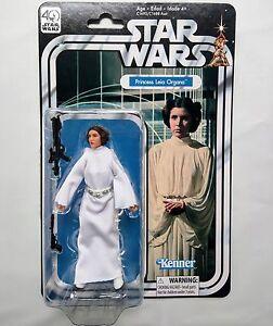 PRINCESS LEIA ORGANA Star Wars Black Series 40th Anniversary 6 Inch Figure NIP