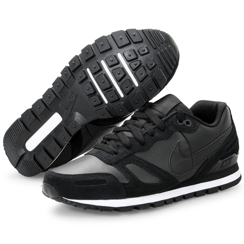 Nike Air Waffle Trainer Leather Premium Neu Gr:38,5 Schwarz Sneaker 90 95 97 R4