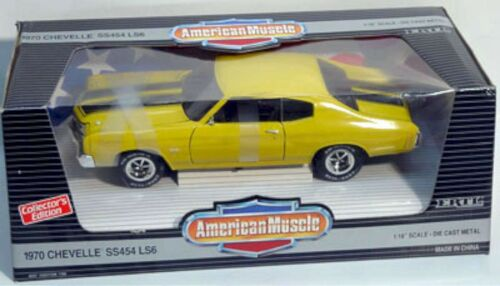 ERTL 1//18 1970 Chevy Chevelle SS454 LS6 Sunflower YELLOW 7190 American Muscle 70