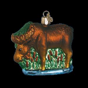 Old-World-Christmas-MUNCHING-MOOSE-12135-N-Glass-Ornament-w-OWC-Box