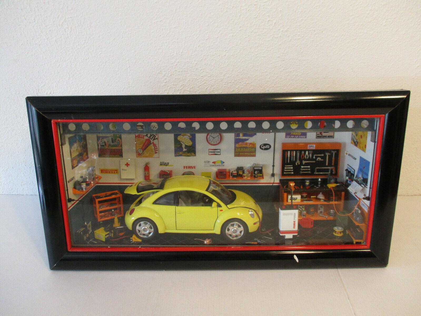 (GOKR) Ferrets Mini Model Diorama VW Volkswagen New Beetle 1   18