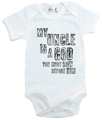 "Funny Baby Bodysuit /""If you think I/'m Cute see my Uncle/"" Babygrow Niece Nephew"