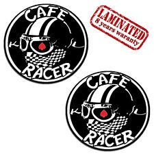 2 Adesivi Stickers Auto Moto Casco Sport Scooter Motocicletta CAFE RACER B 142