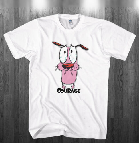 Courage the cowardly Dog T-shirt funny Shirts Adult Kids sizes S-3XL