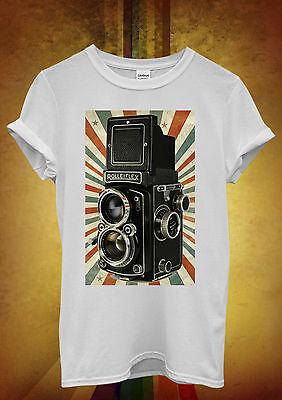 Retro Camera Photography Cool Hipster Men Women Unisex T Shirt Tank Top Vest 452