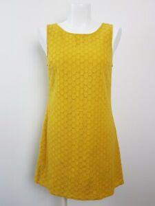 Princess-Highway-Mustard-Brocade-Shift-Tent-A-line-Dress-Women-039-s-Size-8