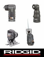 Ridgid 4 Pc Jobmax Head Set- Drill Impact Jig & Reciprocating Saw Kit