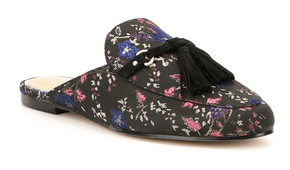 Gianni Bini Brewsten Women's Size 8M Floral Brocade Fabric Tasseled Mules New