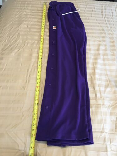 """Men/'s 4XL/""""The Rock/"""" Basketball Poly Side Snap Up Pants NEW /""""Purple or Violet/"""""""