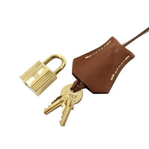 HERMES Tinker cadena clé Set couchevel Gold Brown 90131503