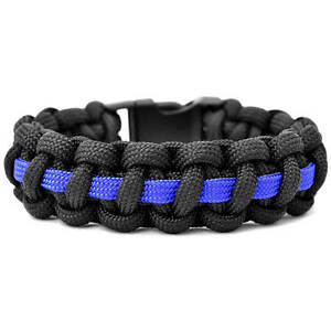Image Is Loading The Thin Blue Line Police 550 Paracord Survival