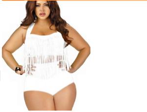 0b408161f6 Women Plus Size Sexy Swimwear Floral Push Up Bandeau Bikini Vintage ...