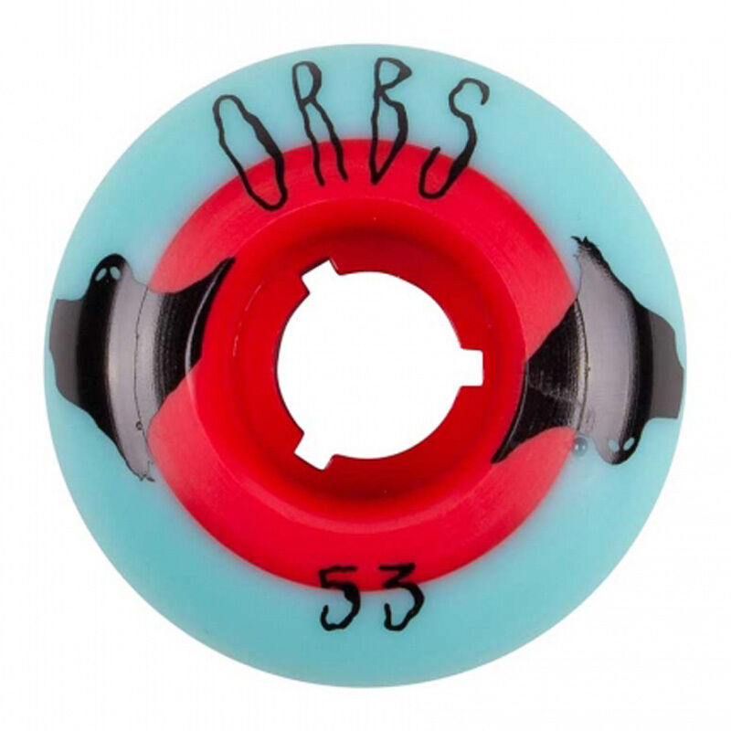 Ruote Welcome Team Orbs Poltergeists bluee Red Solid Core 53MM
