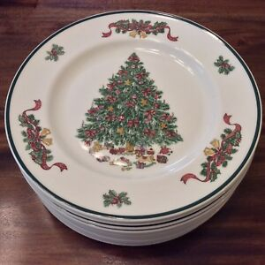 Details about Set 12 Johnson Bros China England Victorian Christmas Plates  10-1/4