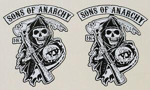 Sons of anarchy autocollant sticker redwood bikers soa skull Mc v8 1/% Chopper