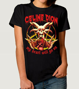 Celine-Dion-My-Heart-Will-Go-On-T-Shirt-Men-039-s-Women-039-s-Power-Metal-Tee