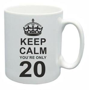 20th Novelty Birthday Poison Present Tea Mug Keep Calm Your Only 20 Coffee Cup-afficher Le Titre D'origine