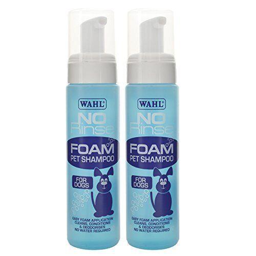 Wahl Smartgroom Shampoo No Rinse for Pets, 240 ml x2