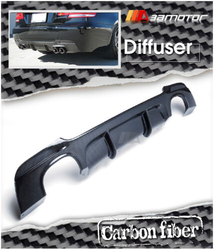 Carbon Fiber P Type Rear Diffuser Quad for BMW E92 3-Series Coupe M Sport Bumper