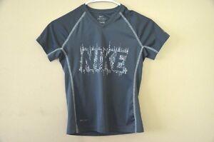 Nike-Girl-039-s-Dri-fit-T-shirt-Grey-Short-Sleeve-Athletic-Sports-Running-Size-M