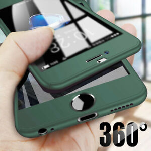 For iPhone 12 11 Pro Max XS X 8 Full Coverage Hard Case Cover & Screen Protector