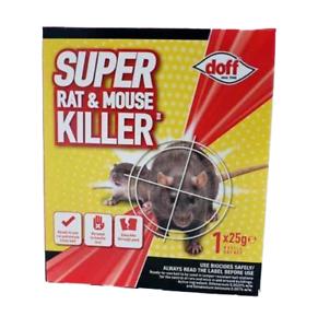 Doff-Super-Rat-amp-Mouse-Killer-II-1-x-Bait-Refill-Sachet-Rodent-Poison-25g