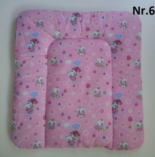 Wickelauflage ca.70x75cm Wickeltischauflage Baumwolle Viele Muster !!!