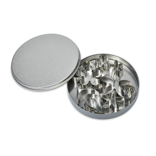 12 Pieces Flower Cookie Cutter Stainless Steel Leaf Cookie Mold Decorating Tools