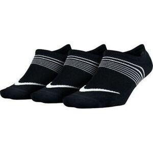ab7ca5769eae NIKE Women s Socks Lightweight Training Socks (Small   3-Pairs) BLACK  SX5277-