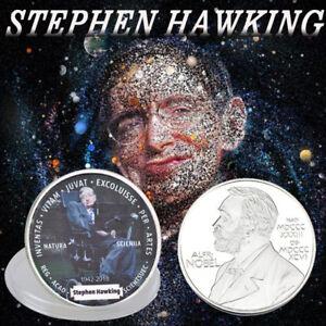 WR-Der-Tod-von-Stephen-Hawking-Gedenkmuenze-Silber-Muenze-Medaille-Sammlung-2018