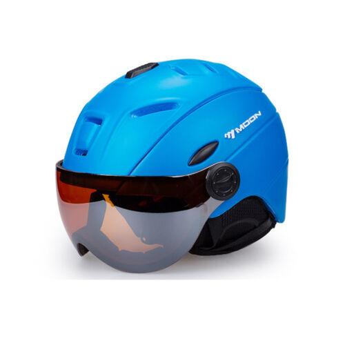 2-in-1 Visor Ski Snowboard Helmet Detachable Snow Mask Integrated Goggle Shield