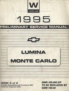 informafutbol.com 1995 Lumina Monte Carlo Preliminary Shop Manual ...