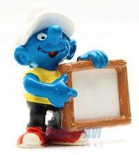 20459 Nameplate Smurf Puffo con Lavagna 1A PUFFO PUFFI SMURF SMURFS SCHTROUMPF