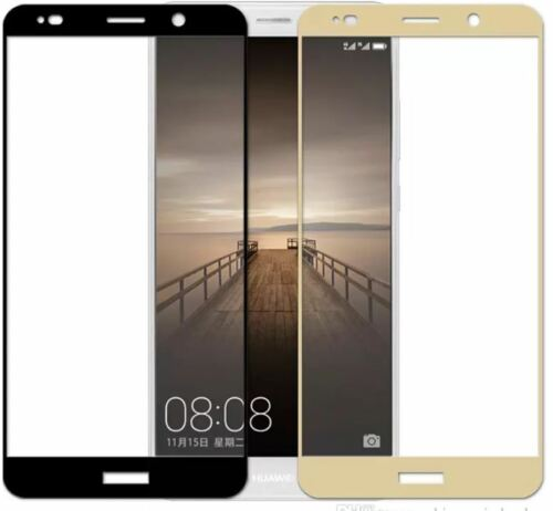 2 X Funda Completo Protector de Pantalla de Vidrio Templado Huawei Mate 10 Pro-Negro