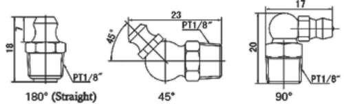 Boquillas de lubricación m8x90 ° acero galvanizado nuevo