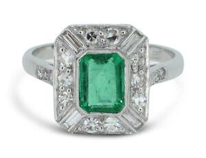 Art-Deco-Emerald-and-Diamond-Ring-1-10ct-0-65ct-Platinum