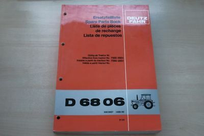 193090) Deutz Fahr D 68 06 Ersatzteilkatalog 01/1981