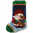 Latch Hook Kit 12 X 17 Roly Poly Santa Stocking as a Pack of 1