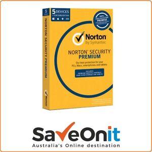 Details about Norton Symantec Security Premium 5 Device PC 1 Year Email  license key