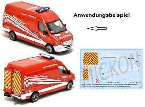 Mickon-50090-Decals-MB-Sprinter-GW-Logistik-Feuerwehr-Bremen-passend-Herpa-1-87