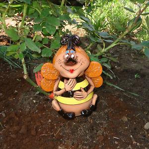 Keramik Biene Maya Gartenstecker Kantensitzer Hummel Garten Deko Skulptur Figur Ebay