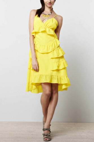 Details about  /ANTHROPOLOGIE Chris Benz Tiered Ruffle Jemima Dress NwT 2 6 8 10